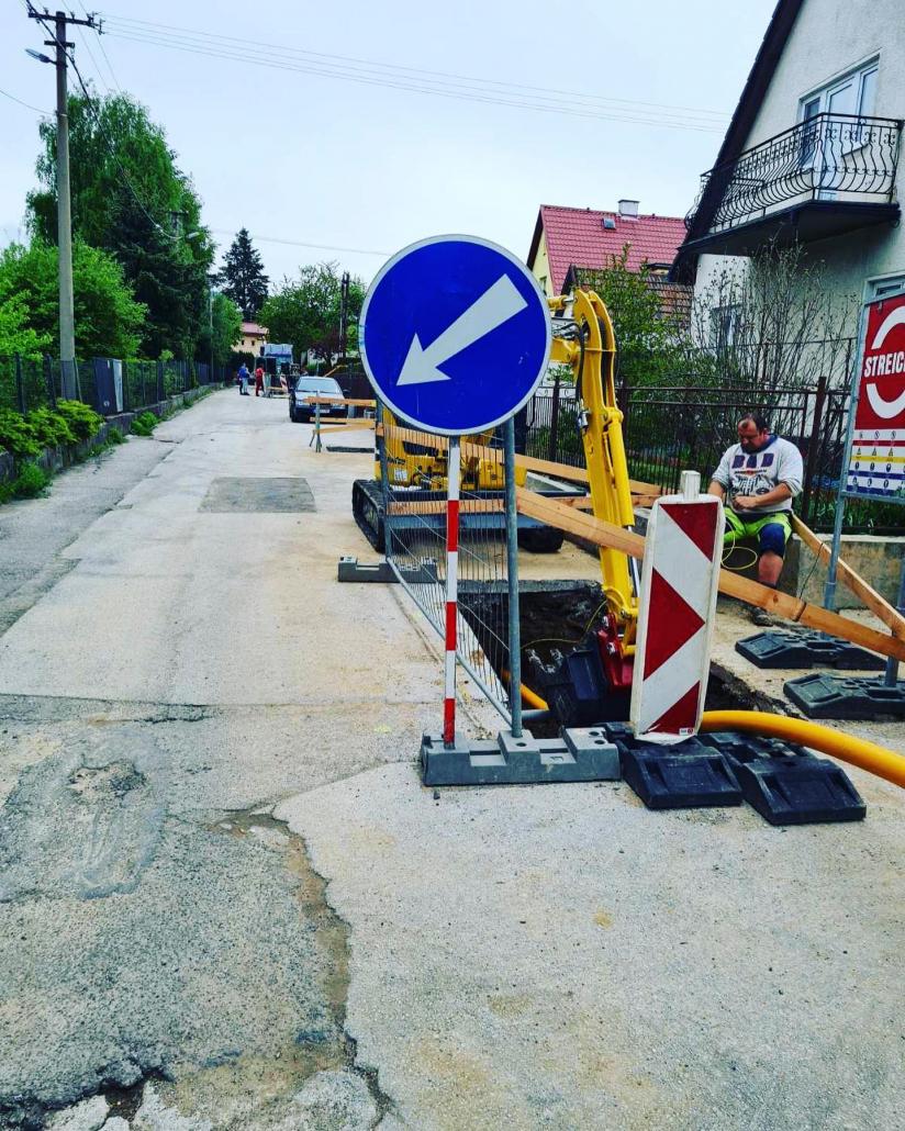 HAES - Rekonštrukcia plynovodu Handlová