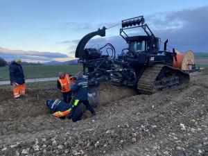 HAES - Pluhovanie káblov a potrubí